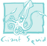 Giant Squid in Blue