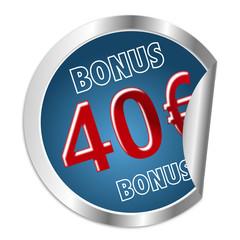 Button 40 Euro Bonus