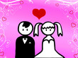 Cartoon of wedding
