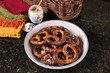 hard baked pretzel plate