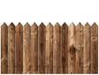 Leinwanddruck Bild - wooden fence