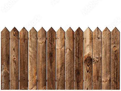 Leinwanddruck Bild wooden fence