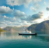 Ferry in the fjord