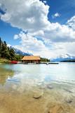 Maligne Lake im Jasper Nationalpark, Kanada poster