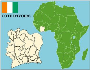 Cote d'Ivoire emblem map africa world business success
