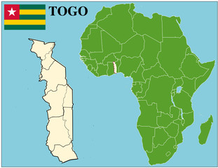 Togo emblem map africa world business success background