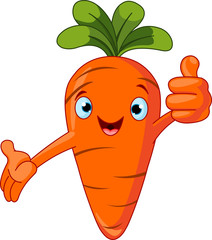 Carrot Character  giving thumbs up