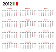 Base calendario italiano con festività 2012