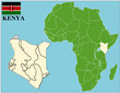 Kenya emblem map africa world business success background