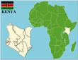 Kenya emblem map africa world business success background