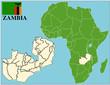 Zambia emblem map africa world business success background