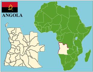 Angola emblem map africa world business success background