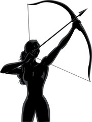 Outline female Archer
