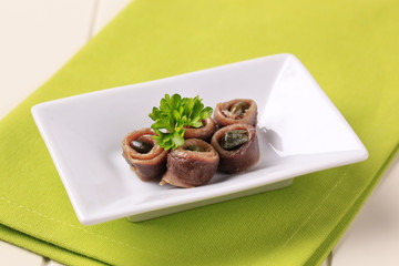 Anchovies with capers