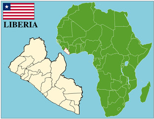 Liberia emblem map africa world business success background