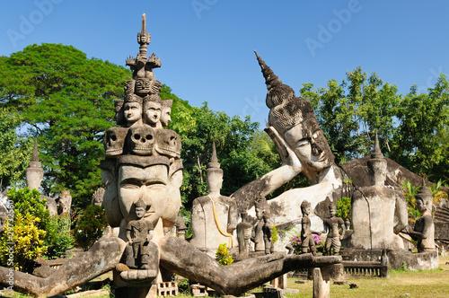 Papiers peints Statue Lao, Vientiane - Xieng Khuan - buddha park