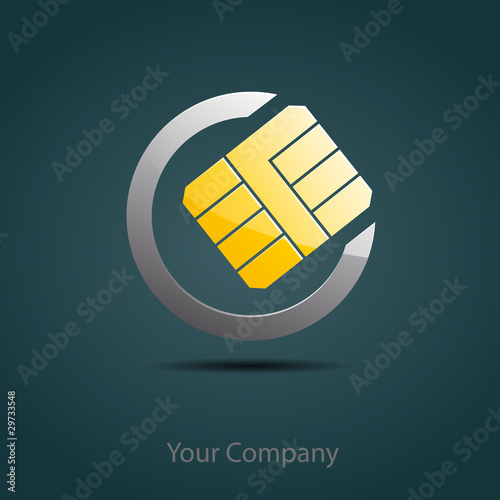 Logo Cellular Sim # Vector