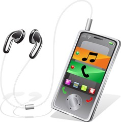 Cellulare Smartphone Lettore Musica Mp3-Portable Phone-Vector