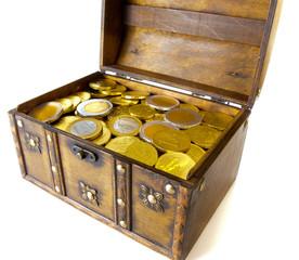 Open box full with money