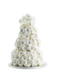 Wedding Cake Isolated On White Background