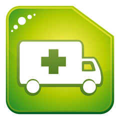 Green ambulance icon