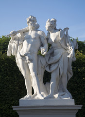 Vienna - statue from Belvedere palace - mythology