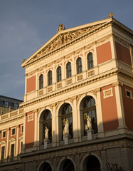 Vienna - music house facade in evening light