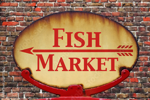 Retro sign Fish Market