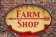 Retro sign Farm shop