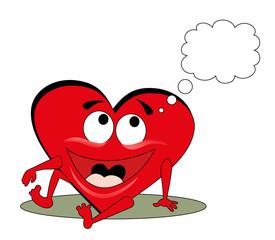 Vector illustration. Valentine heart