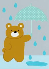 ぼくの傘をどうぞ!
