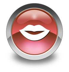 "Glossy Pictogram ""Mouth / Lips Symbol"""