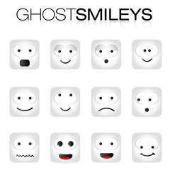 Ghost Smileys Set