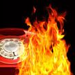 Telephone flames