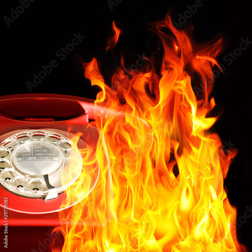 Telephone flames