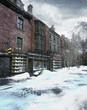 Zimowa sceneria wiktoriańska