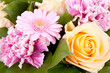bouquet of beautiful flowers in closeup