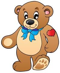 Cute standing teddy bear