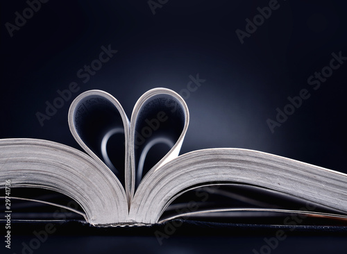 Heart shaped book pages