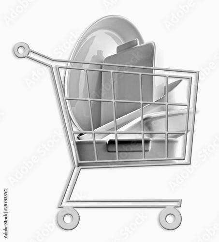 Mini caddie de vaisselle en porcelaine