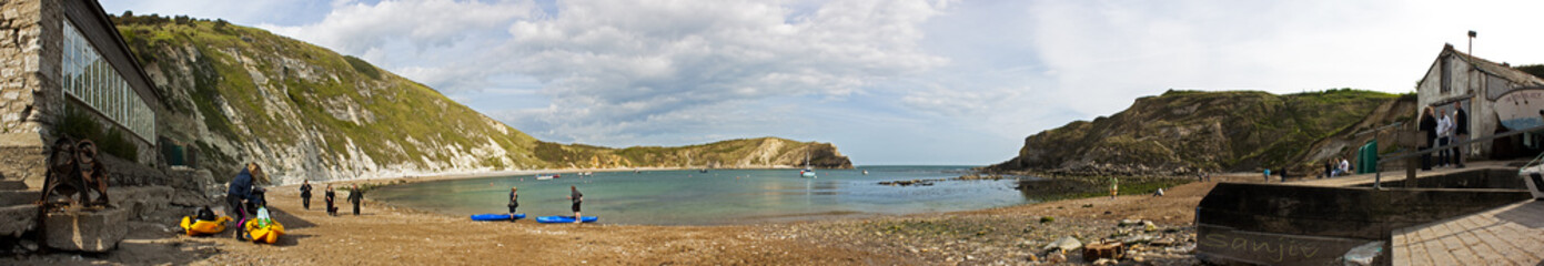 East Lulworth Cove full Panorama