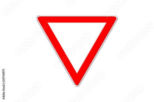 Panneau de signalisation triangulaire