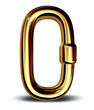 gold chain link single security symbol icon business power