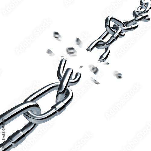 chain breaking broken link disconnected Connection Pulling