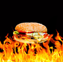 Flame grill Cheeseburger