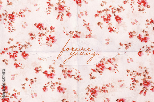 beauty postcard with flowers pattern