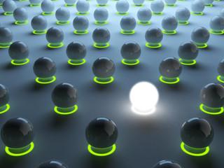 Luminous sphere. Individuality