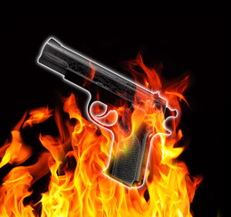 gun and fire