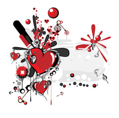 Collage Heart Hooks