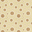 Seamless circles and dots pattern canvas background